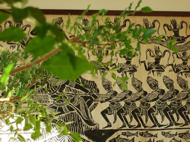 Charkha(チャルカ)は古くからインドに伝わる糸紡ぎ車
