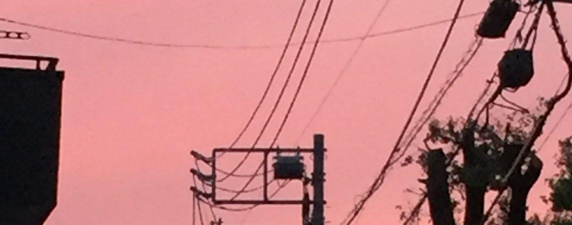 桃色の夕焼け